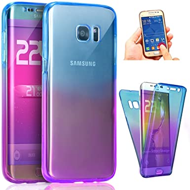 save off 29e76 23eb9 Samsung Galaxy A6 2018 Full Protection Case,Slim 360 degree Protective  Shockproof Front & Back Full Body TPU Silicone Gel Anti-Scratch Full Edge  Cover ...