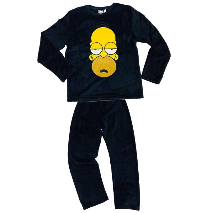 ca39a61e13 Pijama Homer Simpson Coralina Azul Marino (S)  Amazon.es  Ropa y ...