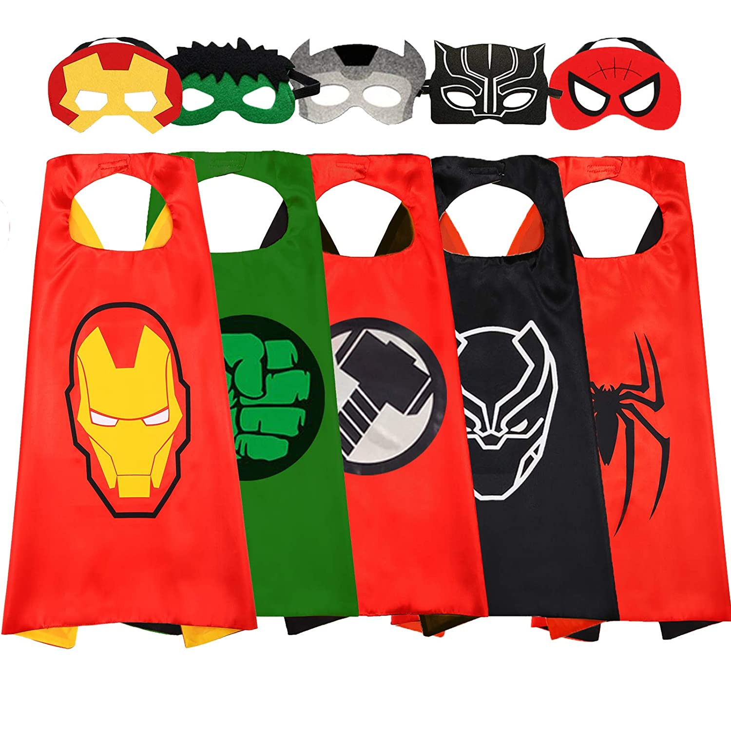 Superhero Cape and Mask for Kids Superhero Toys for 3-10 Year Old Boys Superhero Costumes Avengers Dress up Kids Best Gifts