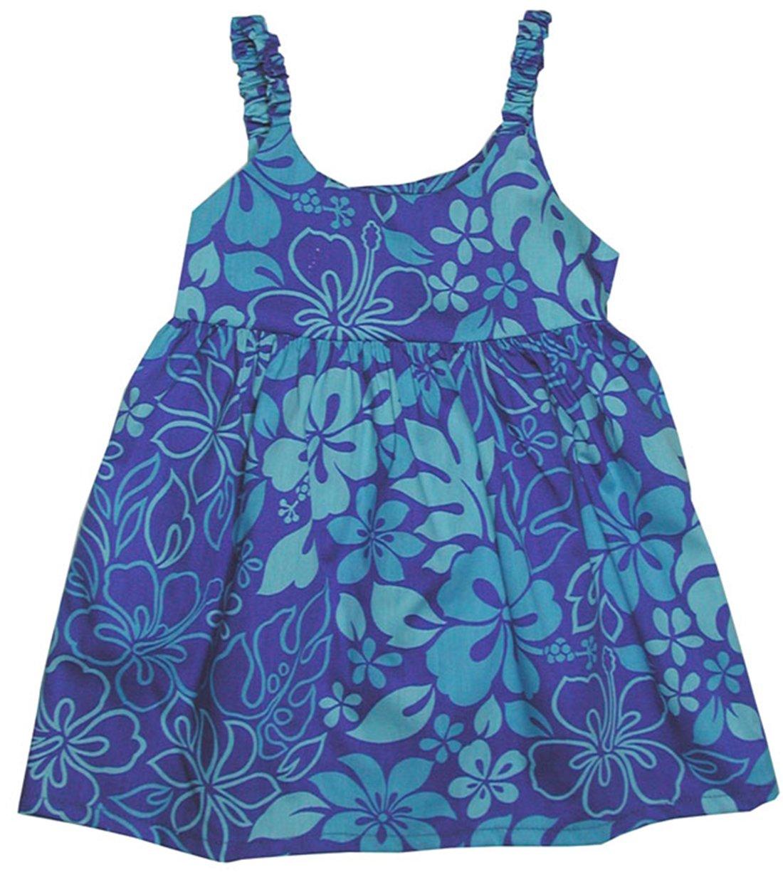 RJC Girls Monstera Garden Bungee Dress Blue 6X