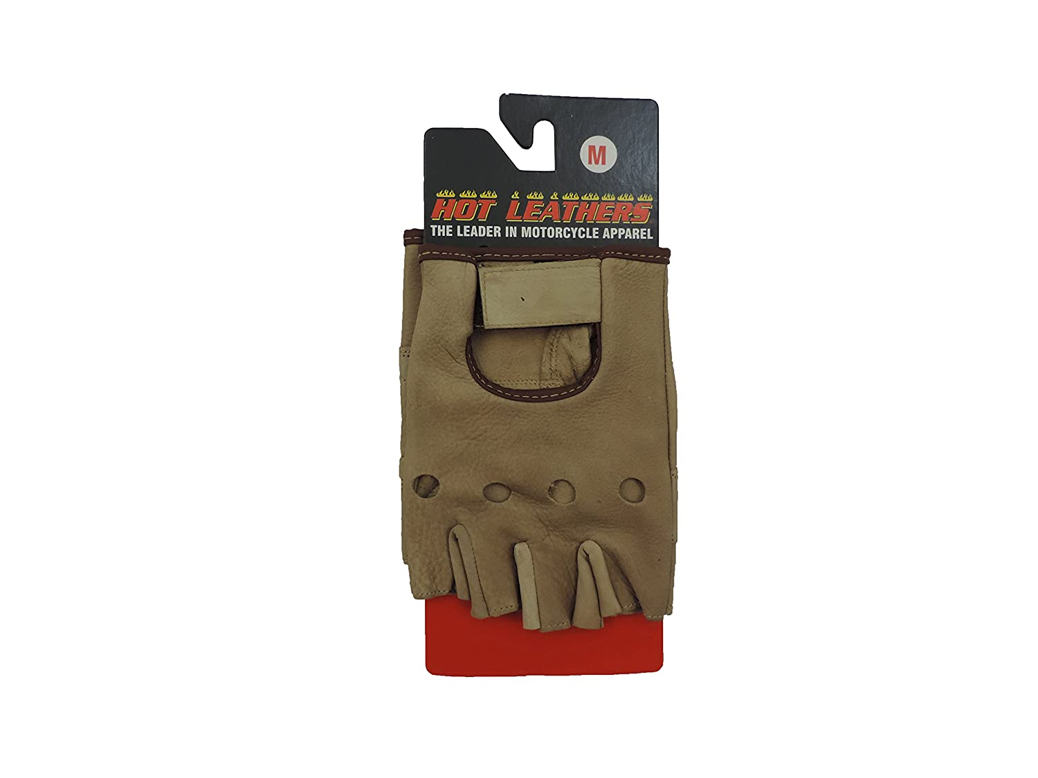 Motorcycle knuckle gloves - Amazon Com Open Knuckle Fingerless Brown Leather Motorcycle Gloves Medium Automotive