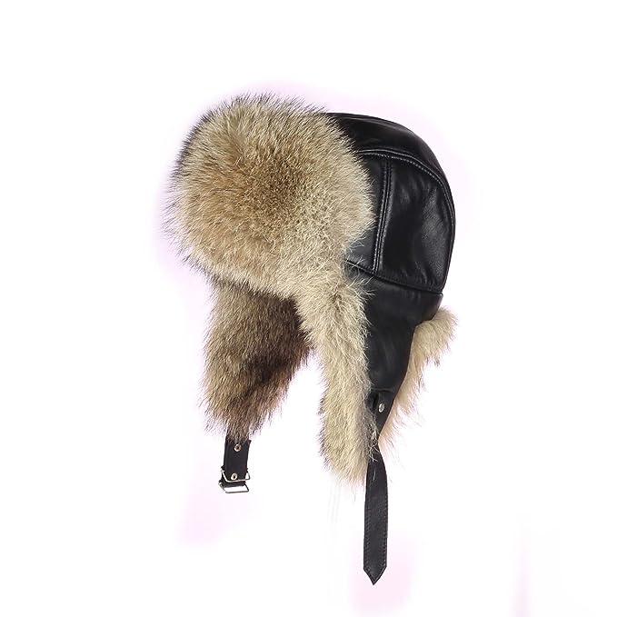 Hombre Coyote Gorro Planeador pelo-Gorro de invierno gorro gorro de esquí  usch Anka Polar Gorro ruso Aviator Real Fell  Amazon.es  Ropa y accesorios 113c88bdb2b