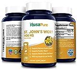 St. John's Wort 1100mg 180 Veggie Capsules (Non-GMO & Gluten Free) 1950mcg Hypericin Saint Johns Wort for Mood, Anxiety & Depression Support
