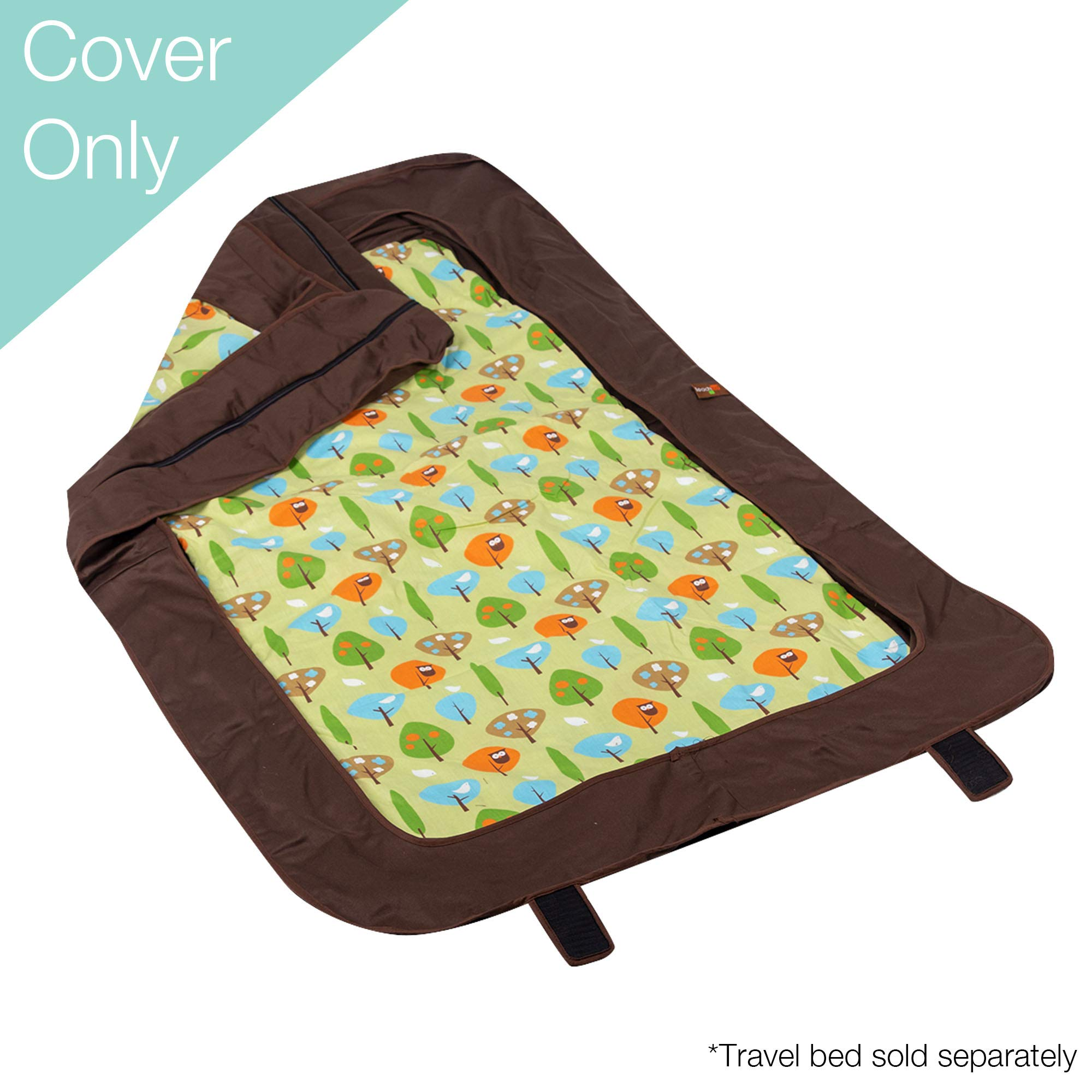 Leachco BumpZZZ Travel Bed Cover (COVER ONLY), Brown/Green Forest Frolics by Leachco