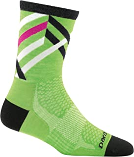 product image for Darn Tough 1785 Women's Merino Wool Graphic Stripe Micro Crew Ultra-Light Socks, Green, Small (4.5-7)