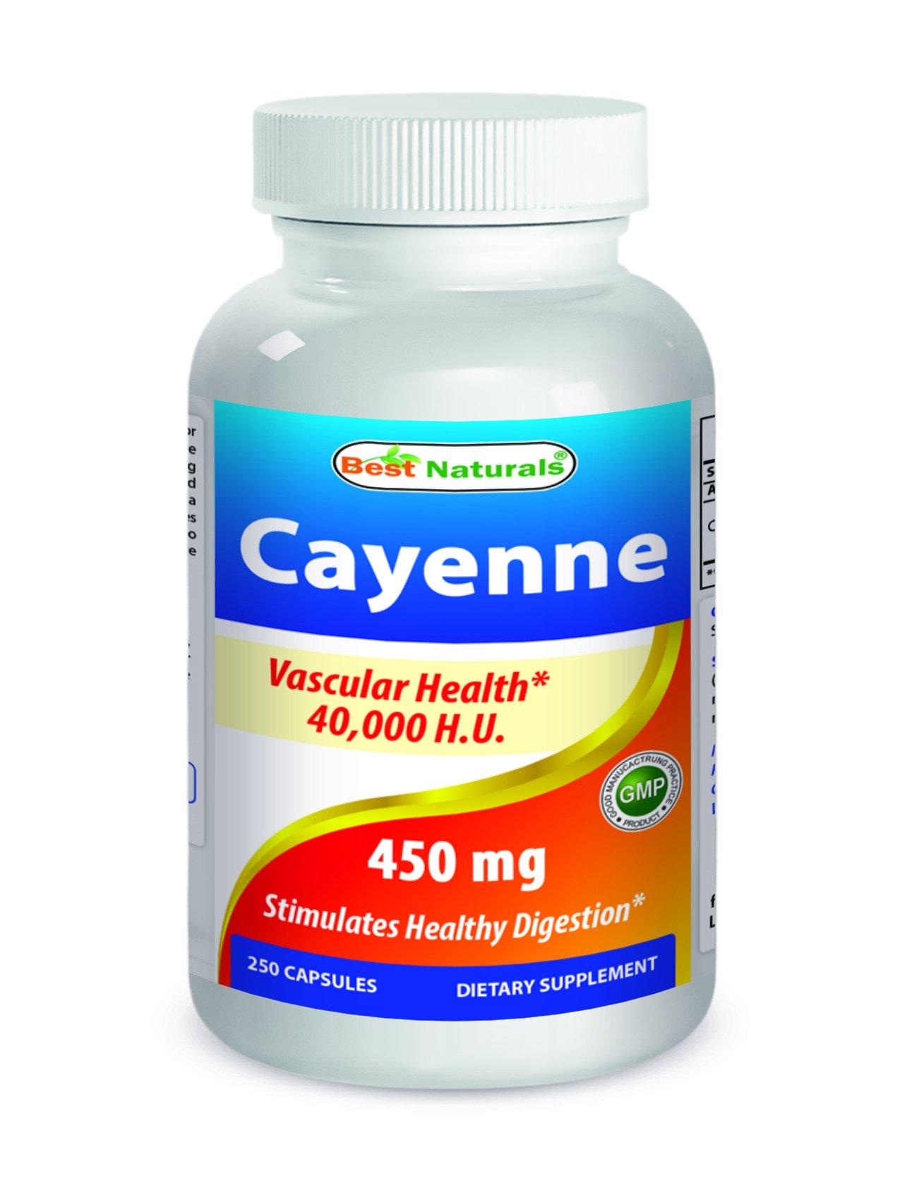 Best Naturals Cayenne 450 mg – 40000 HU – 250 Capsules