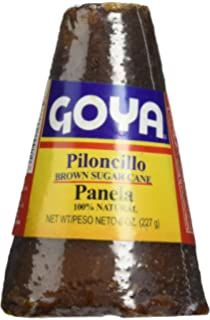 Goya Piloncillo Panela, Brown Sugar Cane 8 Oz (Pack of 2)