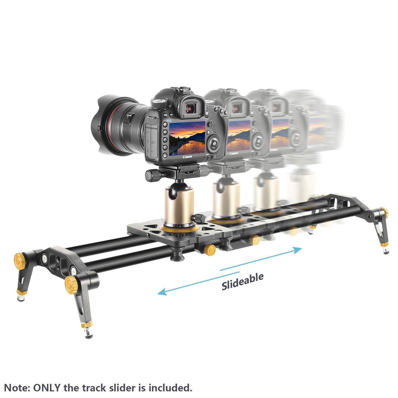 Neewer 23,6 pulgadas//60cm Pista Slider estabilizador Video carril c/ámara de fibra de carbono con 6 rodamientos para DSLR c/ámara DV Video Camcorder pel/ícula fotograf/ía cargar hasta 17,5 libras//8 kilos