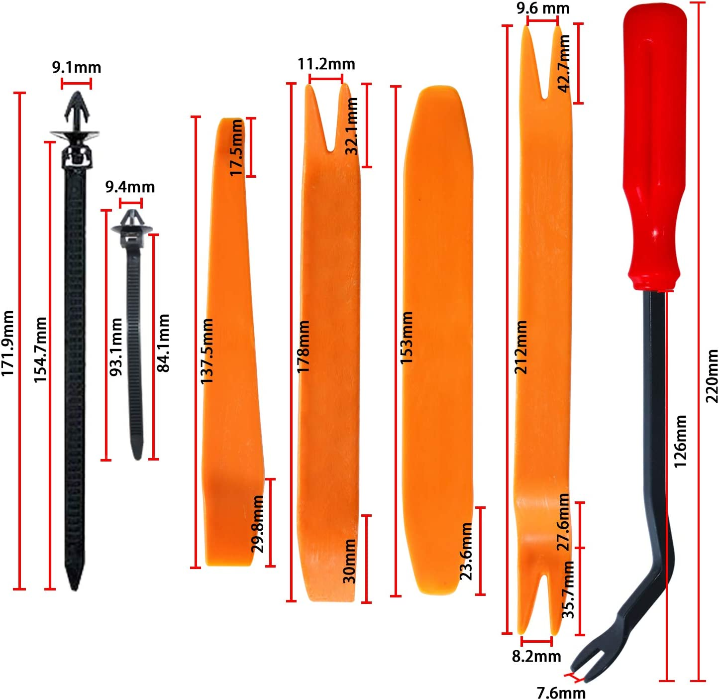 415pcs Auto Body Push Pin Rivet Clips+240pcs Car Trim Panel Body Plastic Fastener Clips Car Trim Removal Tools with 1 Fastener Removal for Toyota GM Ford Honda Lexus MR2 Chrysler