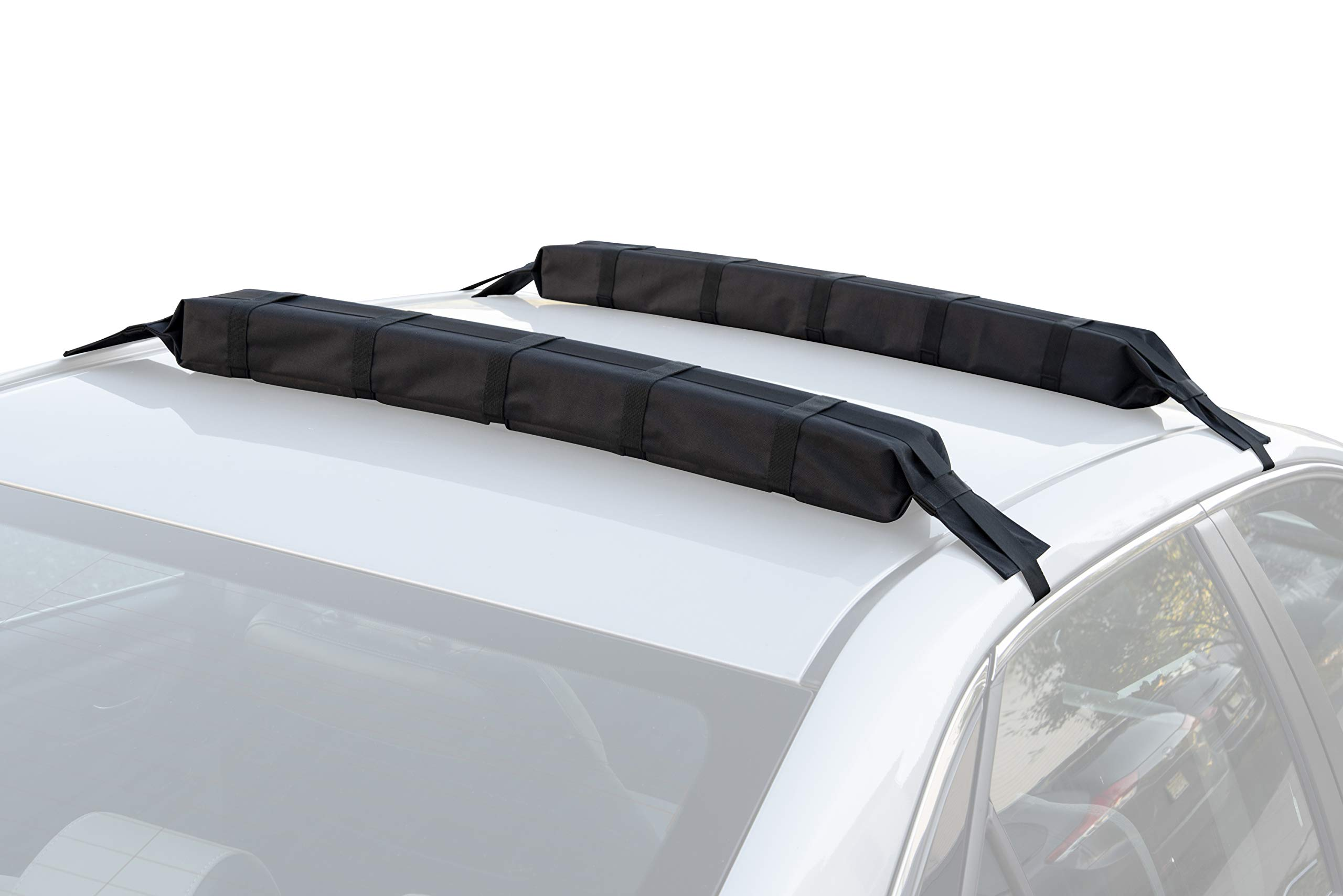 Universal Car Soft Roof Rack Pad & Luggage Carrier Anti-vibration System – Includes 2 Waterproof Tie Down Straps + Storage Bag