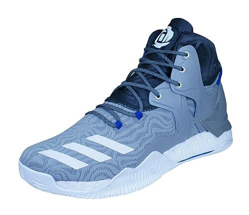 adidas D Rose 7, Scarpe da Basket Uomo, Grigio (Grpuch/Ftwbla/