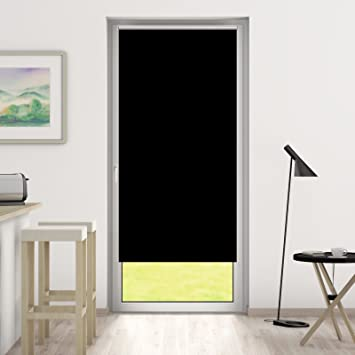 Rollos Schwarz amazon de deswin rollos verdunkelungsrollo 70 x 230 cm schwarz