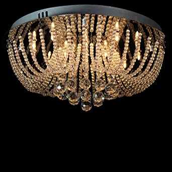 Dst Exquisit Rund Regen Tropfen Kristall Beleuchtung Hängende Lampen Kronleuchter  Für Esszimmer Wohnzimmer Schlafzimmer Arbeitszimmer D50cm