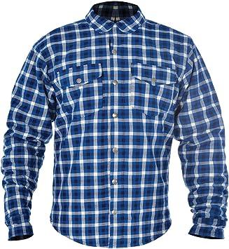 Camisa de tela Oxford a cuadros azul Blue/White 4XL: Amazon ...