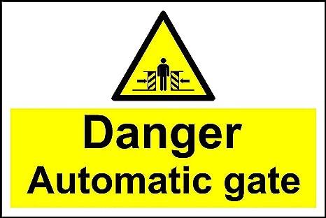 Amazon.com: Cartel Peligro – Señal de seguridad de puerta ...
