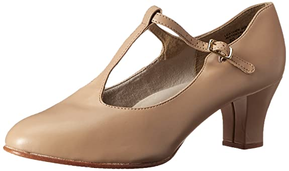 Swing Dance Shoes- Vintage, Lindy Hop, Tap, Ballroom Capezio Womens Jr. Footlight T-Strap Dance Shoe $47.00 AT vintagedancer.com