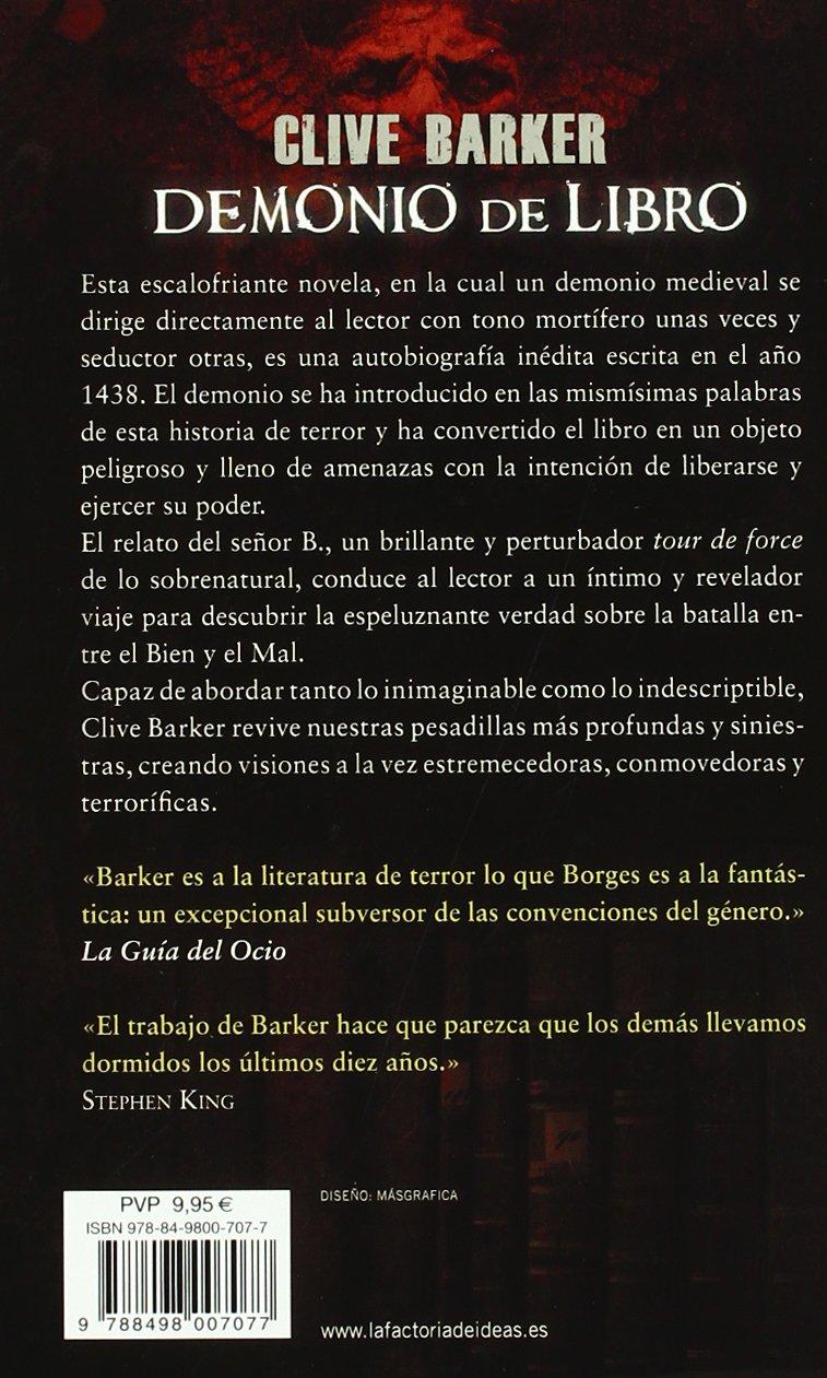 Demonio De Libro Clive Barker 9788498007077 Books Amazon Ca