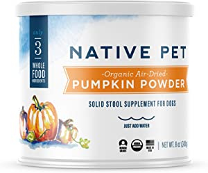 Native Pet Organic Pumpkin for Dogs (8 oz, 16 oz) - All-Natural, Organic Fiber for Dogs - Mix with Water to Create Delicious Pumpkin Puree - Prevent Waste with a Canned Pumpkin Alternative!