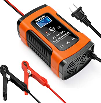 Amazon Com Battery Charger Automotive 12v 5a Smart Battery Maintainer Trickle Charger For Car Boat Motorcycle Lawn Mower Marine Sealed Lead Acid Battery And More Automotive