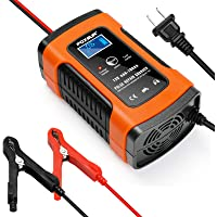 Battery Charger Automotive 12V 5A Smart Battery Maintainer Trickle Charger for Car Boat Motorcycle Lawn Mower Marine…