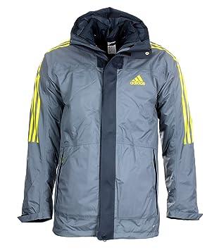 Chaqueta Adidas Climaproof Event M 3 en1 exterior doble, color gris / amarillo, tamaño 62 / 2XL: Amazon.es: Deportes y aire libre