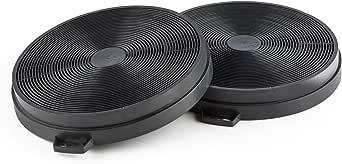 Klarstein - Filtro de carbón activo, Reemplazo para campana extractora, 2 unidades, Aire en circulación, Diámetro 206 mm, Altura 30 mm, Duradero, Fácil instalación,: Amazon.es: Grandes electrodomésticos