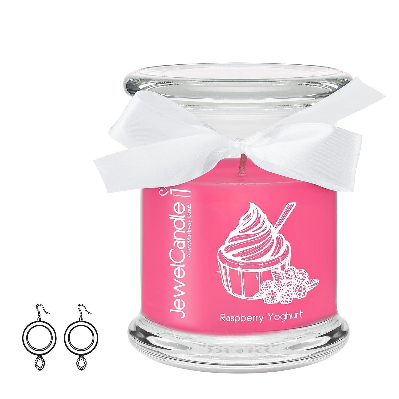 JewelCandle candela profumata – Raspberry Yoghurt - Orecchini Classic | sorpresa in argento dal valore fino a 250€ JuwelKerze JewelCandle UG