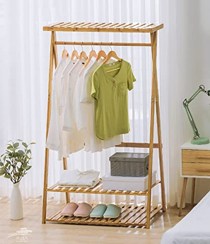 Amazon.com: Simple Wooden Hanger Floor Coat Rack Hanger ...