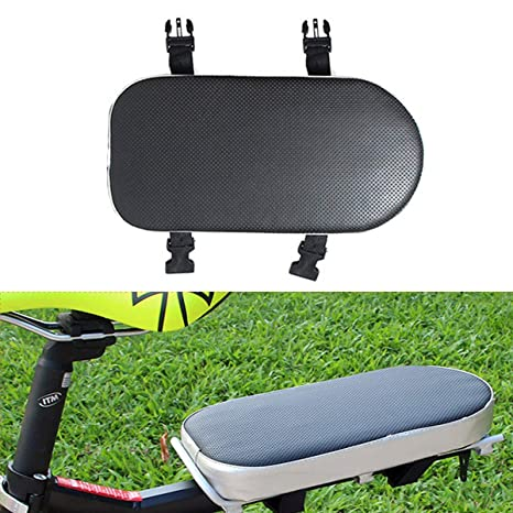 AUVSTAR Cojín de asiento trasero para bicicleta, , Asiento trasero de bicicleta de montaña artificial, Cojín de asiento trasero para vehículo ...