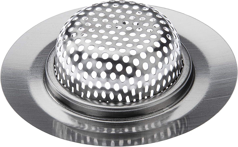 colador de lavabo filtro de pico malla fina Kitchen Helpis /® Juego de 4 coladores de drenaje 4 piezas de coladores de metal colador de drenaje de acero inoxidable colador de trampa de pelo