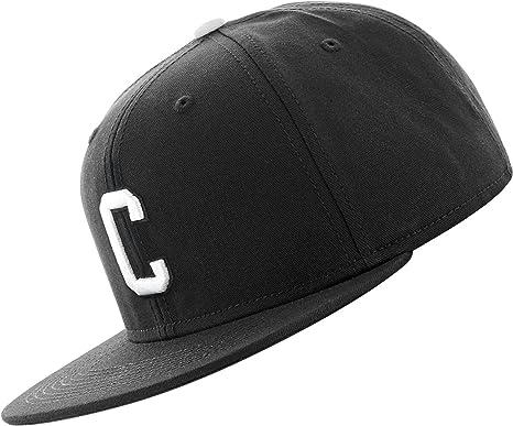 5b1908bc261 MSTRDS Men Caps Snapback Cap C Letter Black - 177095 Adjustable   Amazon.co.uk  Clothing