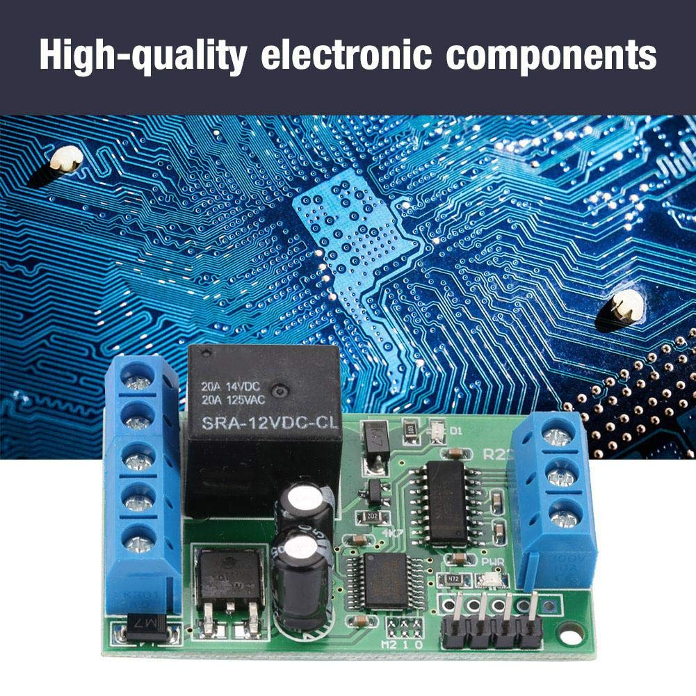 2 in 1 Mini DC 12V Remote Control Relay,RS232 /& TTL232 Single Channel Relay Remote Control Switch for Motor