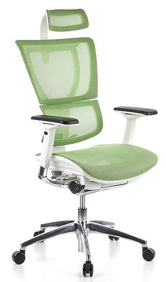 Drehstuhl ergonomisch  hjh OFFICE 652812 Bürostuhl Chefsessel ERGOHUMAN LADY Stoff ...