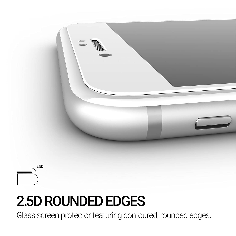 TECHUMP TU010502 Premium - Protector de Pantalla para iPhone 8 y iPhone 7 (Cristal Templado), Color Blanco: Amazon.es: Electrónica