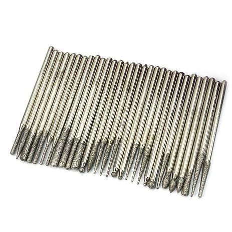 dremel diamond bits. 30x diamond burr bits drill for engraving dremel rotary tool set 2.3mm shanks e