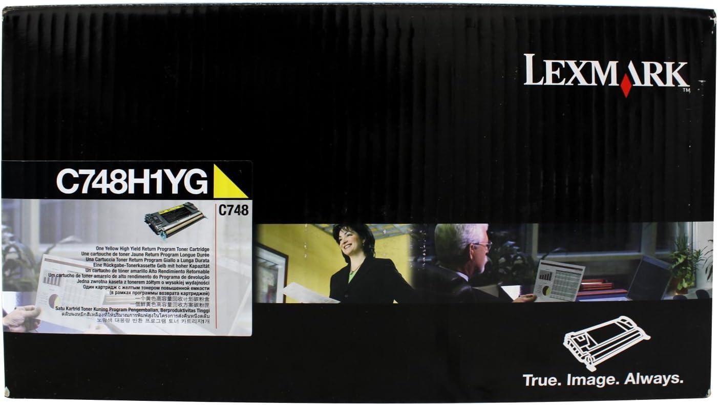 Lexmark C748 Yellow High Yield Return Program Toner Cartridge LEXC748H1YG