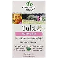 Organic India Tulsi Sweet Rose - 18 Tea Bags HerbalStore_24*7