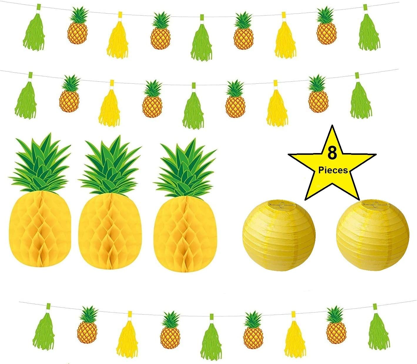 Pineapple Party Decoration | Pineapple Party Value Pack