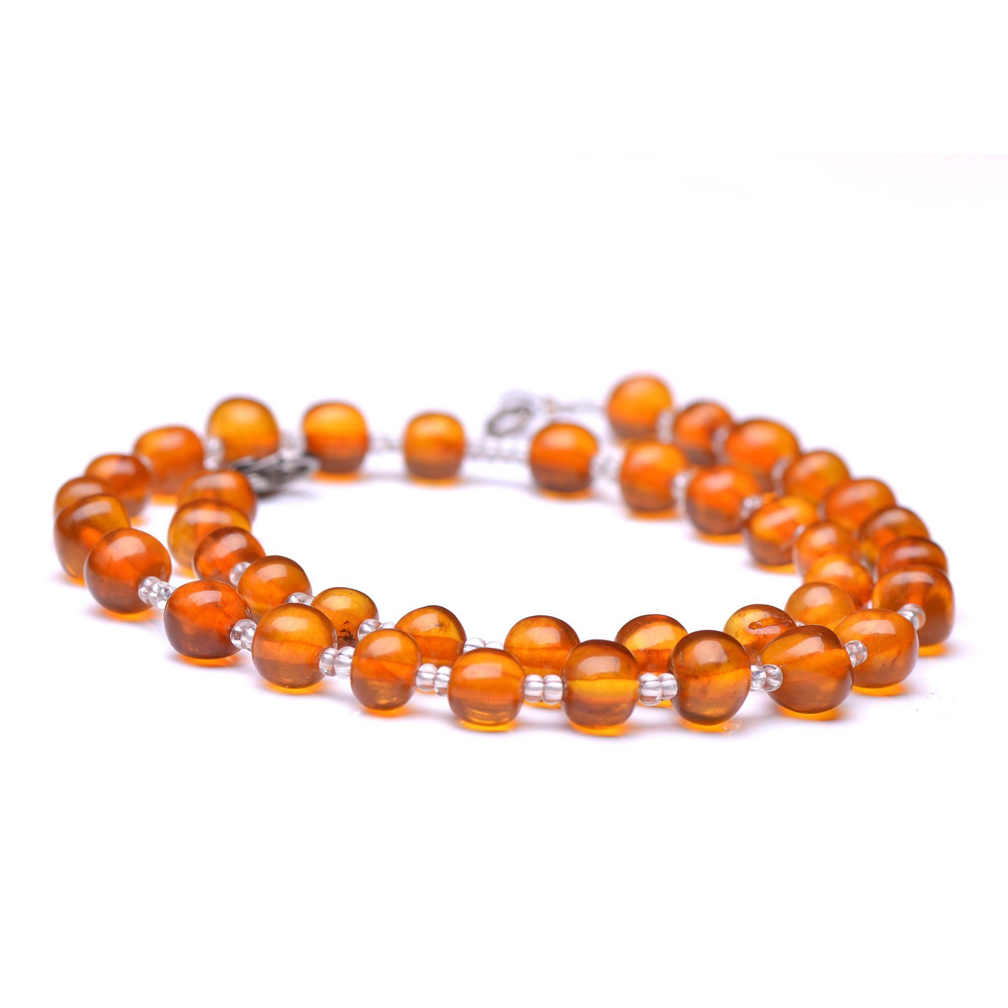 Baltic Amber Teething Necklace (15.4'') - Baltic Amber Jewelry - Kid Necklace
