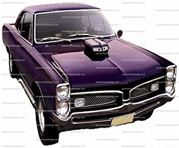 Amazon Com 2 Purple Classic Muscle Car Birthday Edible Cake