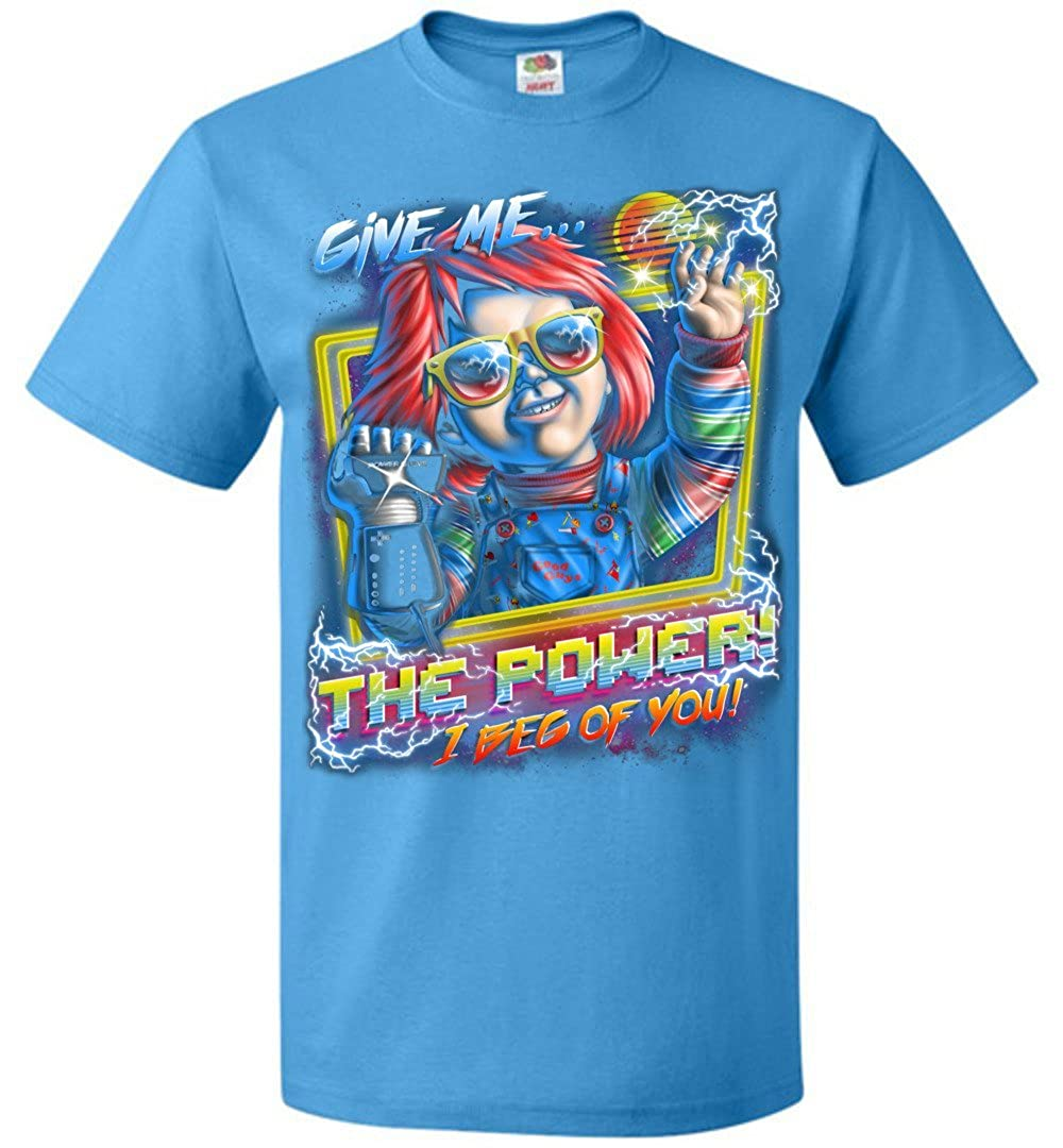 Give Me The Power Chucky Adult Unisex T-Shirt Adult Pop Culture Graphic Tee Nerdy Geeky Apparel