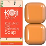 Pure Kojic Acid Skin Lightening Soap ( 2.82 oz / 2 Bars ) - Naturally Whitening for Tone Adjustment & Bleaching Skin - Remove Freckles, Fade Age Spots, Anti-aging, Acne Scars, Sun Spots Damage