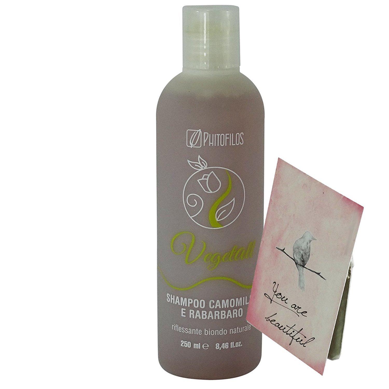 PHITOFILOS - VegetAll Chamomile & Rhubarb Shampoo - Freshen up blonde & light brown hair