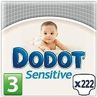 Dodot Protection Plus Sensitive - Pañales Talla 3 (5-10 kg), Paquete de 3 x 74 Pañales - Total: 222 Pañales