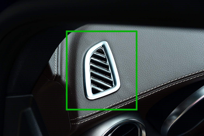 Carbon ABS cromato arredo interno cruscotto Outlet Vent accessori telaio Trim adesivi per Glc 200 260 300 2015 2016 2017 Luxuqo