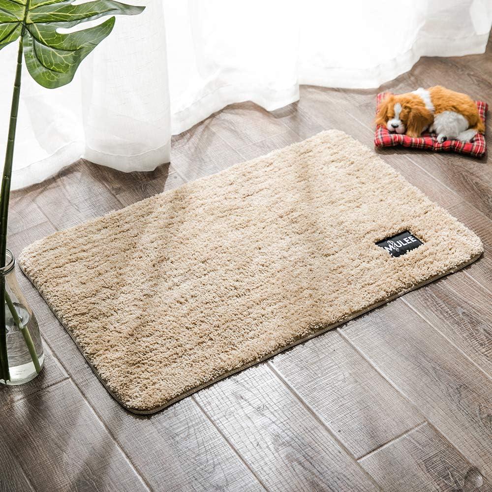 MIULEE Dekorative Teppiche Saugf/ähige weicher Rechteck mit hoher Hydroskopizit/ät Modern Teppich f/ür Wohnzimmer Schlafzimmer 40 X 60cm Blau