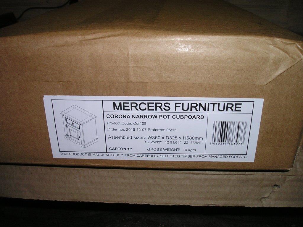Mercers Furniture Corona 3 Drawer Bedside - Brown COR2