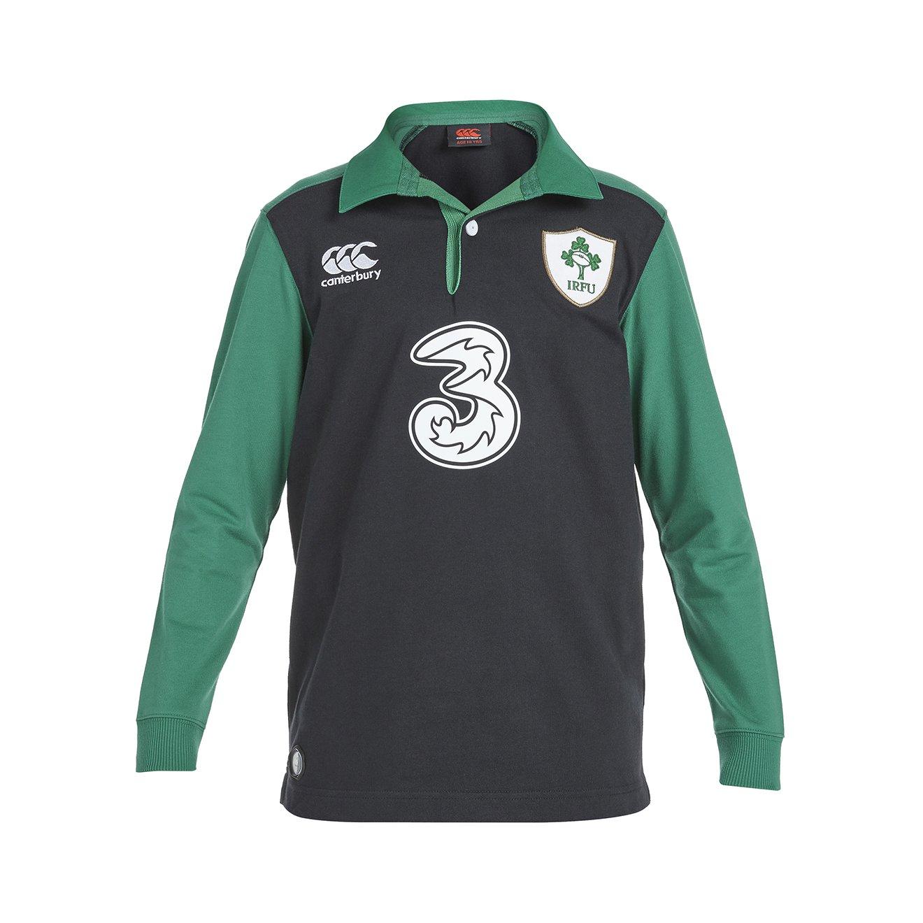 2015-2016 Ireland Alternate Classic LS Rugby Shirt (Kids) B00ZHVJKH6 Large Boys 29-31