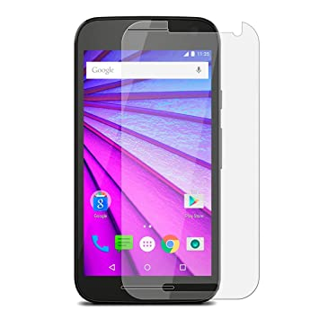 [2 Packs] Moto G Turbo Edition Screen Protector, Tempered Glass Clear Screen Protector