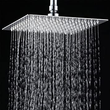 rain like shower head. 12 quot Rainfall Shower Head YAWALL Ultra thin Stainless Steel  High Polish Chrome